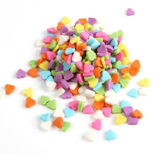 Confettis Coeur Rainbow (50 g) - Sucre