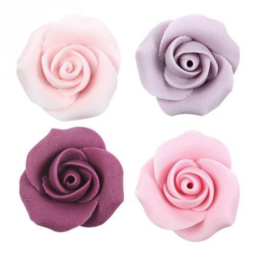 4 Têtes de Roses (3,5 cm) - Sucre