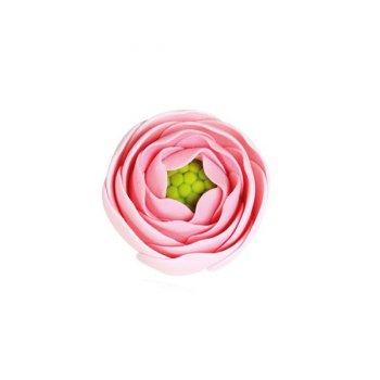 1 Petite Fleur Renoncule Rose (3,5 cm) - Non comestible