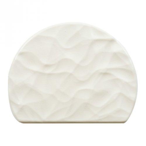 2 Embouts de Bûche Relief Rock - Chocolat Blanc