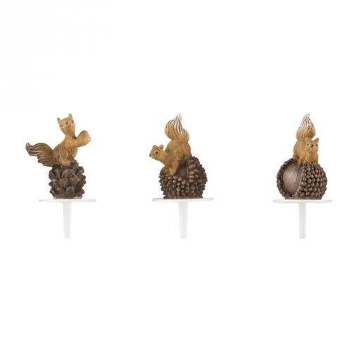3 Pics Ecureuil (7 cm) - Plastique
