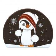 2 Embouts de Bûche Pingouin - Chocolat Noir