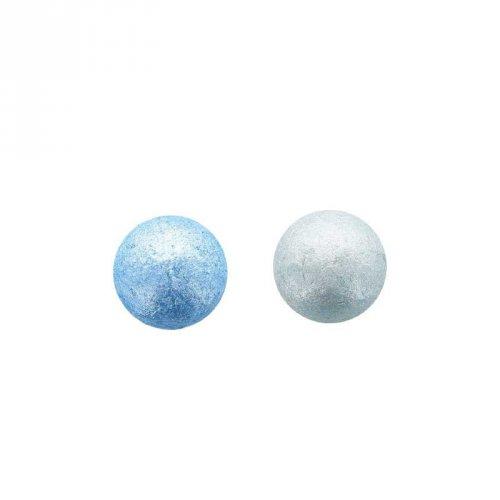 2 Petites Boules Disco Bleu (2,2 cm) - Chocolat Blanc