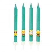 4 Bougies Emoji Smiley (10 cm)