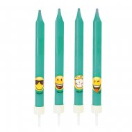 4 Bougies Emoji Smiley (10 cm)