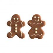 Couple Mr et Mme Pain d'Epice à plat (3,7 cm)  - Chocolat au Lait