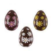 3 Mini Oeufs 3D Fleurs de Pâques (3,8 cm) - Chocolat