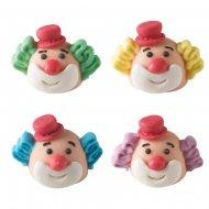 4 Têtes de Clown 3D (2,5 cm) - Sucre