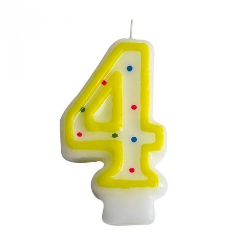 Bougie Chiffre 4 (7.5 cm)