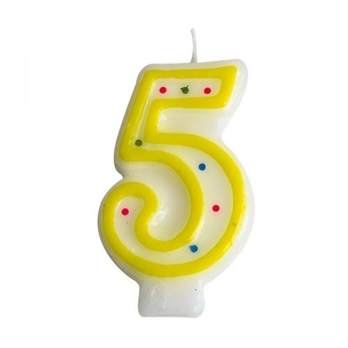 Bougie Chiffre 5 (7.5 cm)
