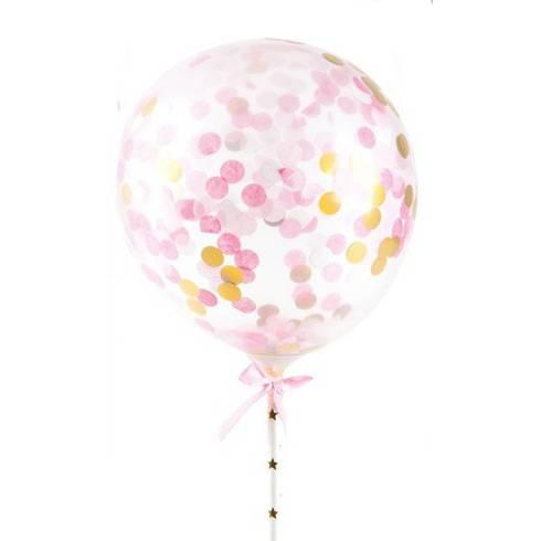 Kit Déco Gâteaux Ballon - Rose