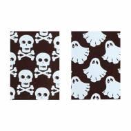 3 Plaquettes Fantômes et Crânes - 3,5 x 2,5 cm