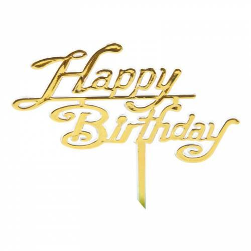 Pic Happy Birthday - Plastique Or