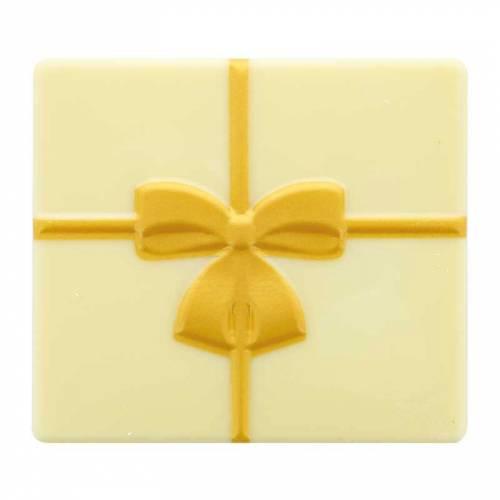 2 Embouts de Bûche Cadeau - Chocolat Blanc