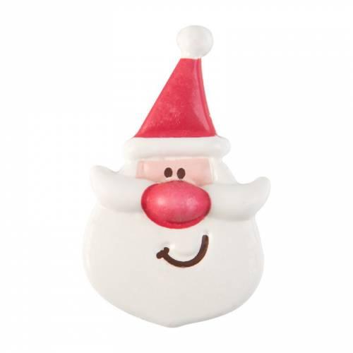 1 Tête de Père Noël - Chocolat Blanc (8 cm)