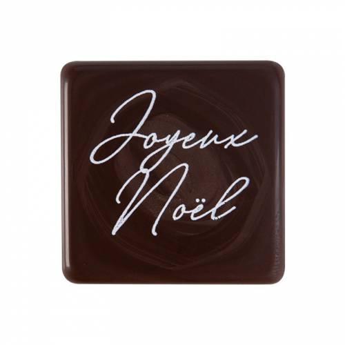 5 Petites Plaquettes Joyeuses Noël  (3 cm) - Chocolat Noir