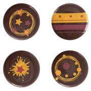 5 Mini Disques Noël (2,5 cm) - Chocolat Noir