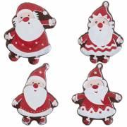 4 Plaquettes Père Noël  (4,5 cm) - Chocolat Blanc