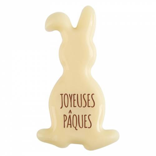 3 Lapin Joyeuses Pâques (5 cm) - Chocolat Blanc