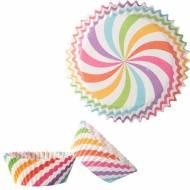 50 Caissettes à Cupcakes - Rainbow Pastel