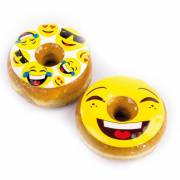 2 Donuts Topper Smiley - Chocolat Blanc
