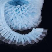 Ruban contour de Gâteau Tulle Bleu - 1 m