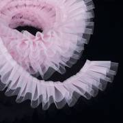 Ruban contour de Gâteau Tulle Rose - 1 m