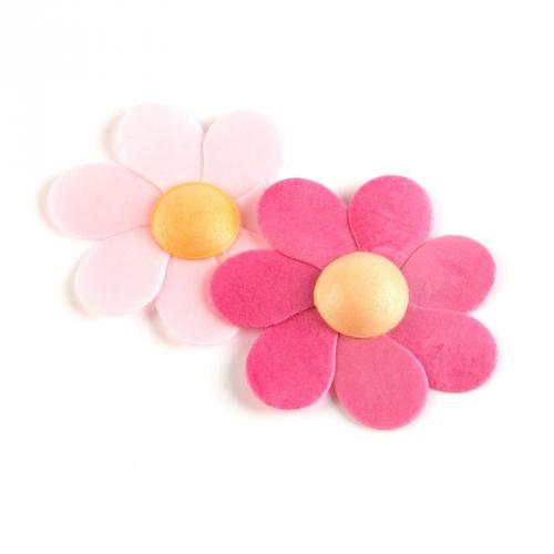 2 Fleurs Rose Marguerite 6cm - Azyme