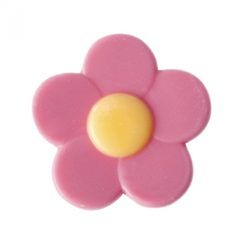 5 Fleurs Rose 4 cm - Chocolat