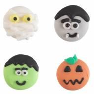 Assortiments 4 Têtes Halloween 2 cm - Sucre