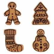 4 Figurines de Noël - Chocolat Caramel