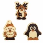 3 Figurines de Noël - Chocolat Blanc