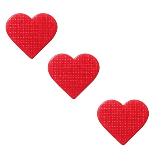 3 Cœurs Relief - Chocolat Blanc