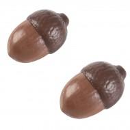 2 Glands (3,8 cm) - Chocolat