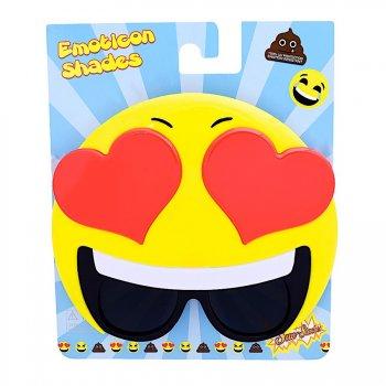 Lunettes de Déguisement Emoji Coeurs