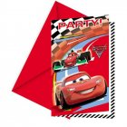 6 Cartes d'invitations Cars 2