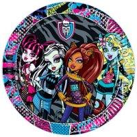 Contient : 1 x 8 Assiettes Monster High Friends
