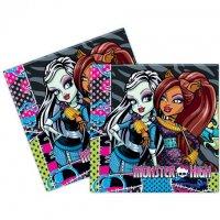 Contient : 1 x 20 Serviettes Monster High Friends