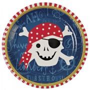 12 Assiettes Pirate Smile