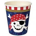 12 Gobelets Pirate Smile