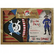 Kit Invitations et Remerciements Pirate Smile