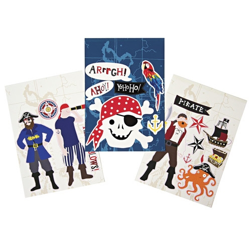 18 Stickers muraux repositionnables Pirate Smile