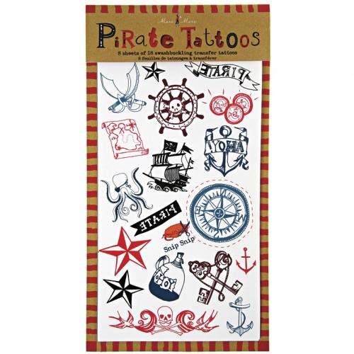 8 Planches de Tatouages Pirate YO