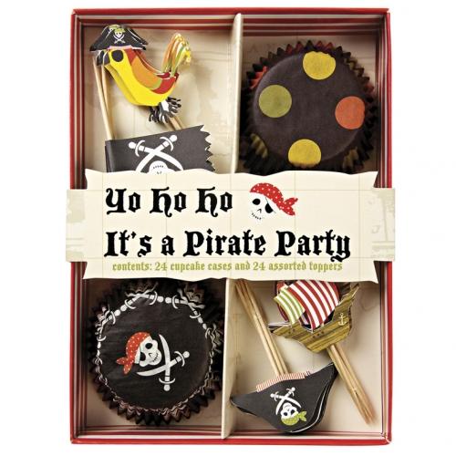 Kit 24 Caissettes et Déco Cupcakes Pirate YO