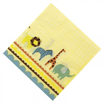 20 Petites Serviettes Animal Parade