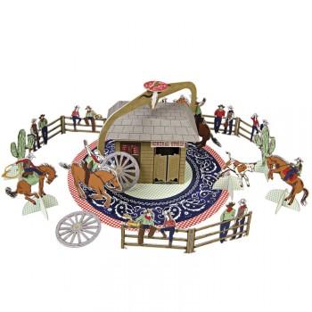 Grand Centre de table Cowboy Party