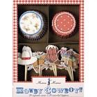 Kit 24 Caissettes et Déco à Cupcakes Cowboy Party