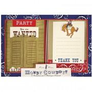 Kit Invitations et remerciements Cowboy Party