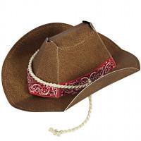 Contient : 1 x 8 Mini Chapeaux Cowboy Party