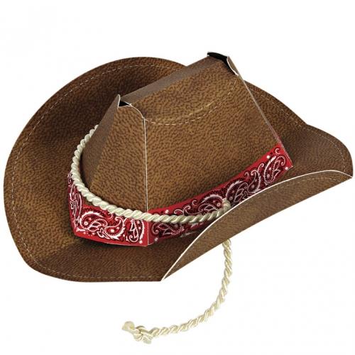 8 Mini Chapeaux Cowboy Party
